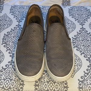 Snakeskin suede shoes